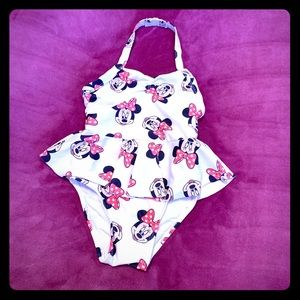 Girls 4t Minnie Mouse bathing suit Like new